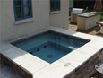 Slab stone Wall Around Jacuzzi