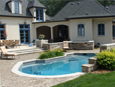 Stone Decorative Design around Pool